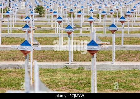 Republic of Macedonia, Bitola, the French cemetery, built in 1923, and has over 6,200 graves of soldiers of the - Stock Photo