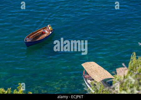 Republic of Macedonia, Lake Ohrid, listed as World Heritage by UNESCO - Stock Photo
