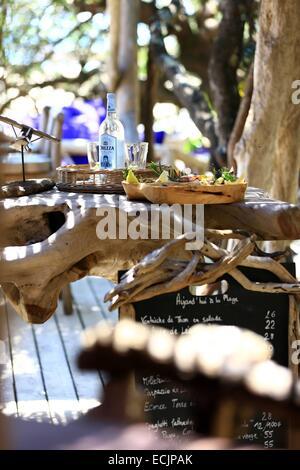 Beach restaurant domaine de murtoli stock photo royalty free image 39547741 alamy - Domaine de murtoli restaurant ...