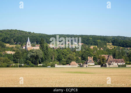 France, Essonne, Saint Cyr sous Dourdan, rue du pont rue - Stock Photo