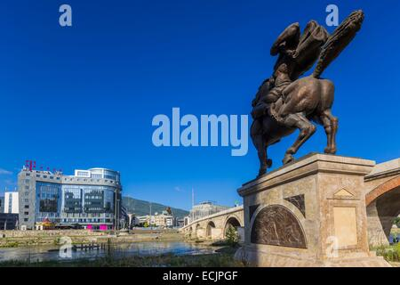Republic of Macedonia, Skopje, downtown - Stock Photo