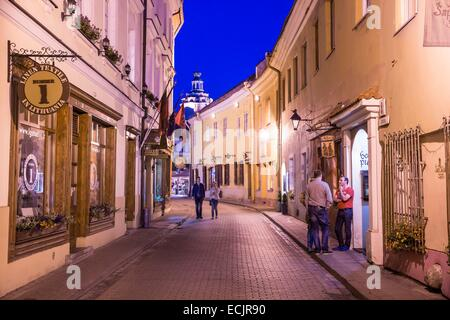 Lithuania (Baltic States), Vilnius, historical center, listed as World Heritage by UNESCO, the small Jewish ghetto - Stock Photo