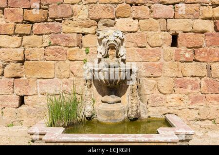 France, Aude, basin of Sainte Marie de Fontfroide cistercian abbey - Stock Photo