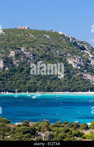 France, Corse du Sud, Porto Vecchio, Santa Giulia bay - Stock Photo