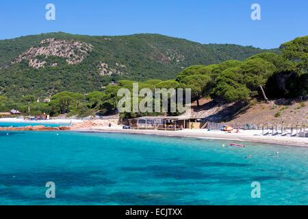 France, Corse du Sud, Porto Vecchio, Palombaggia beach - Stock Photo