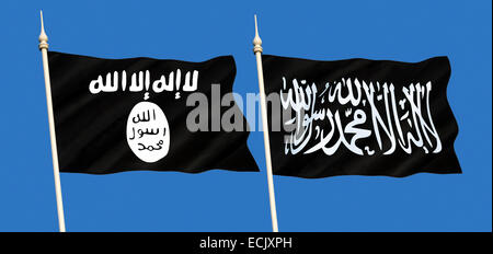 Islamic State (ISIS or ISIL) is an unrecognized state and a Sunni jihadist group active in Iraq and Syria in the - Stock Photo