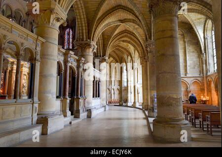 France, Marne, Reims, Saint Remi Basilica listed as World Heritage by UNESCO, tomb of Saint Remi - Stock Photo