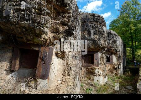 France, Moselle, Veckring, Maginot Line, Hackenberg Fortress, bunker - Stock Photo
