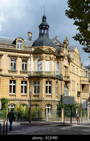 France, Moselle, Metz, Imperial district, Jugendstil villas on ...