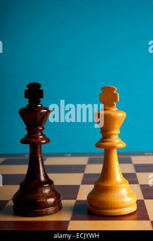 black and white chess kings - Stock Photo