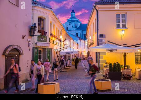Lithuania (Baltic States), Vilnius, historical center listed as World Heritage by UNESCO, the small Jewish ghetto - Stock Photo