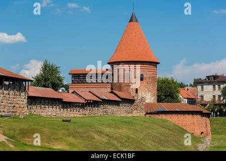 Lithuania (Baltic States), Kaunas County, Kaunas, Kaunas castle from the 13th century - Stock Photo