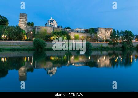 France, Maine et Loire, Angers, the Maine river