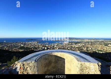 France, Var, Toulon, from Mount Faron - Stock Photo