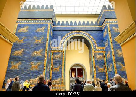 Germany, Berlin, Museum Island, listed as World Heritage by UNESCO, Pergamon Museum (Pergamonmuseum), Ishtar Gate, - Stock Photo