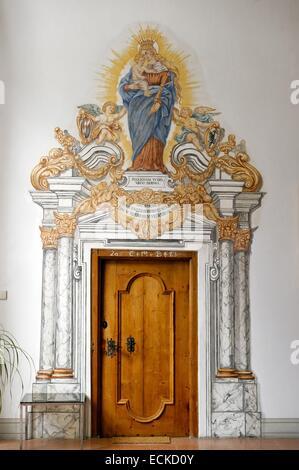 Austria, Tyrol, Inntal valley, Stams citercian Abbey - Stock Photo