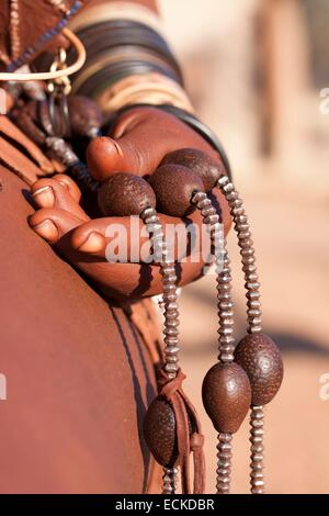 Namibia, Kunene region, Kaokoland, Himba village near Kamanjab, Omangetti seeds - Stock Photo