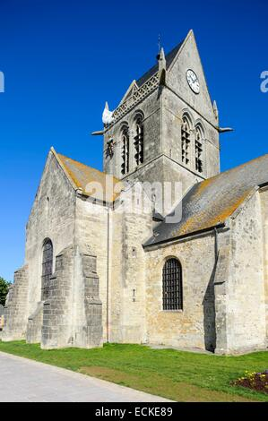 France, Manche, Cotentin, Sainte Mere Eglise, one of the first towns in France released June 6, 1944 during the - Stock Photo