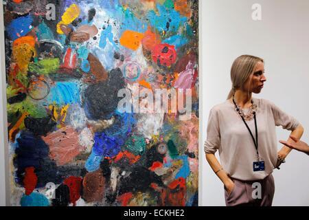 France, Paris, FIAC 2014 (Paris International Contemporary Art Fair) hold mainly in Grand Palais exhibition hall, - Stock Photo
