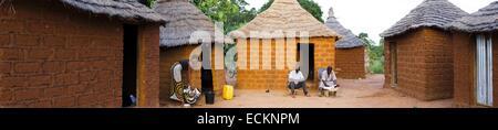 Burkina Faso, Bobo Dioulasso, Toussiana, traditional house - Stock Photo