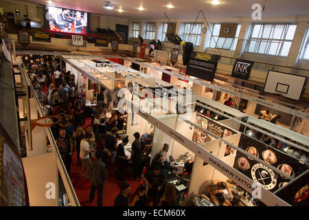 ISTANBUL TURKEY SEPTEMBER 20 2014 Tattooists meet Istanbul Tattoo Convention which held Kadikoy. - Stock Photo