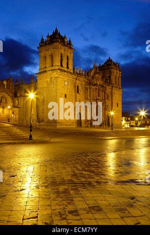 Cusco Cathedral (Nuestra Sra. de la Asuncion), Cusco, Peru - Stock Photo