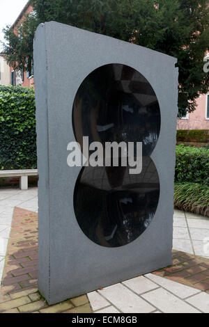 untitled sculpture, Anish Kapoor, Peggy Guggenheim Collection, Venice, Italy - Stock Photo