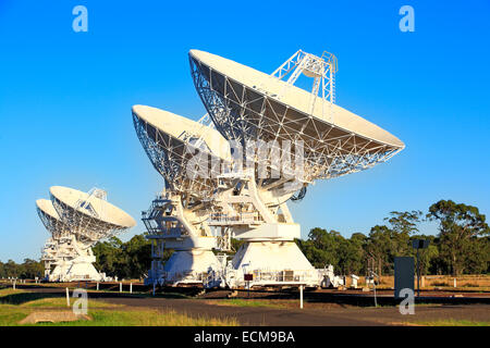 Four Compact Array Telescopes used for scientific research, Australia - Stock Photo