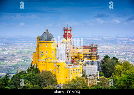 Sintra, Portugal at Sintra National Palace - Stock Photo