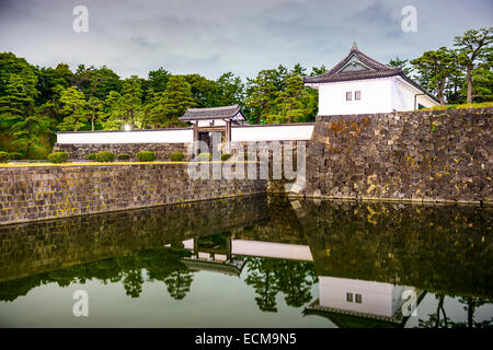 Tokyo, Japan at the Imperial Palace Sakurada-mon Gate. - Stock Photo