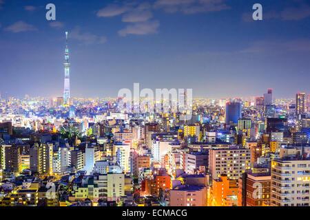 Tokyo, Japan city skyline from Bunkyo Ward. - Stock Photo