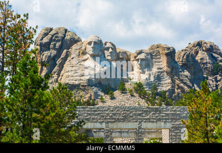 Mount Rushmore South Dakota Keystone  National Memorial of  Presidents in stone on mountain landmark attraction - Stock Photo