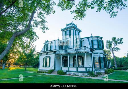 North Platte Nebraska home of famous Buffalo Bill built in 1886 Nebraska's most famous person cowboy - Stock Photo