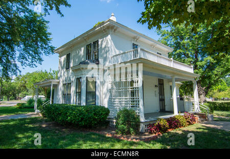 Abilene Kansas childhood home of Dwight Eisenhower 1898-1946 President Ike - Stock Photo