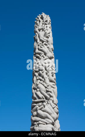 Oslo Norway Vigeland Installation park sculpture 1924-1943 Frogner Park Gustav Vigeland most famous artist in Norway - Stock Photo