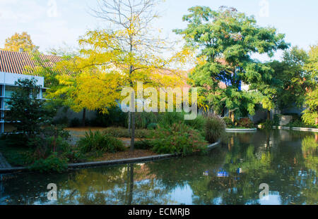 Odense Denmark Hans Christian Andersen Museum writer home and grounds - Stock Photo
