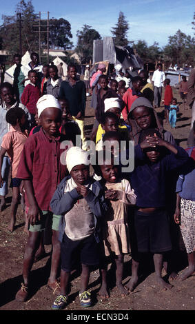 displaced camp in Eldoret Kenya circa 1994 - Stock Photo