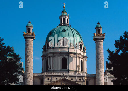 Austria, Vienna, Karlskirche, St. Charles Church - Stock Photo