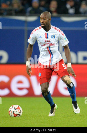 Hamburg, Germany. 16th Dec, 2014. Hamburg's Johan Djourou controlls the ball during the German Bundesliga soccer - Stock Photo