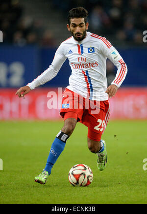 Hamburg, Germany. 16th Dec, 2014. Hamburg's Mohamed Gouaida controlls the ball during the German Bundesliga soccer - Stock Photo
