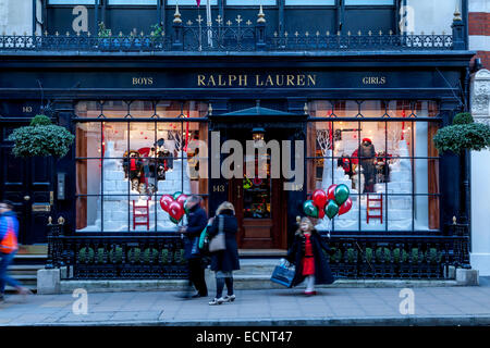The Ralph Lauren Store In New Bond Street, London, England - Stock Photo