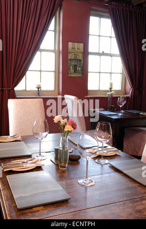 Restaurant at The Mason's Arms, Cumbria, UK - Stock Photo