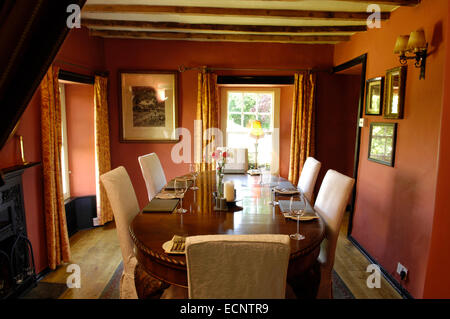Dining room at The Mason's Arms, Cumbria, UK - Stock Photo