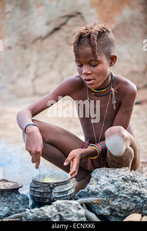 Himba boy - Stock Photo