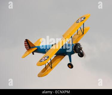 US Army Boeing Stearman Biplane 699 - Stock Photo