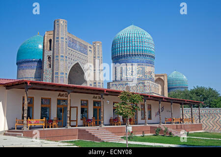 Bibi-Khanym Mosque / Bibi Khanum Mosque, historical Friday mosque in Samarkand, Uzbekistan - Stock Photo