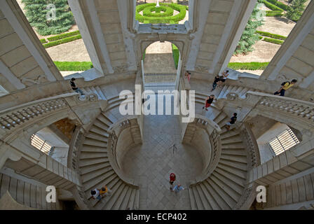Certosa of San Lorenzo, flight of steps, Padula, Campania, Italy - Stock Photo