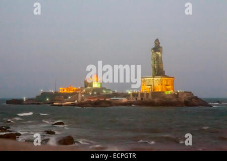 Kanyakumari, formerly known as Cape Comorin, is a town in Kanyakumari District in the state of Tamil Nadu in India. - Stock Photo