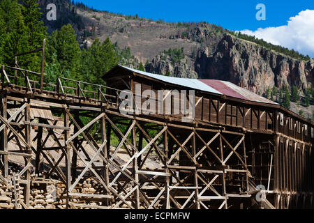COMMODORE MINE in CREEDE COLORADO, a silver mining town dating back to the mid 1800's.