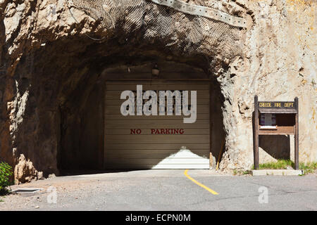 CREEDE COLORADO FIRE STATION inside a mine - Stock Photo